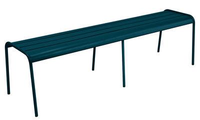 Banc Monceau XL / L 160 cm - 3 à 4 places - Fermob bleu acapulco en métal