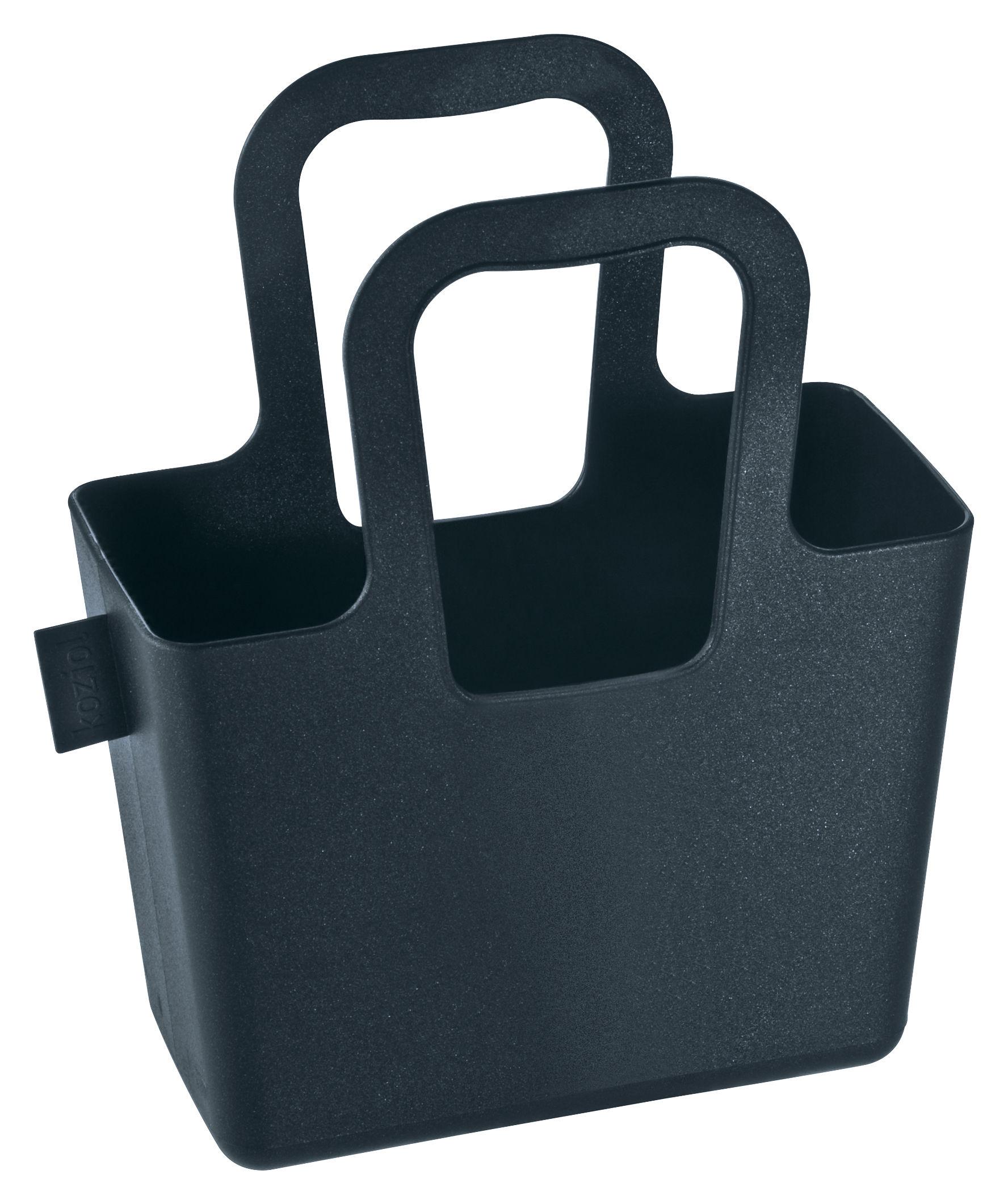 Decoration - For bathroom - Taschelini Basket by Koziol - Black - Plastic material