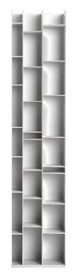 Möbel - Regale und Bücherregale - Random 3C Bücherregal / L 46 cm x H 217 cm - MDF Italia - Weiß - Holzfaser
