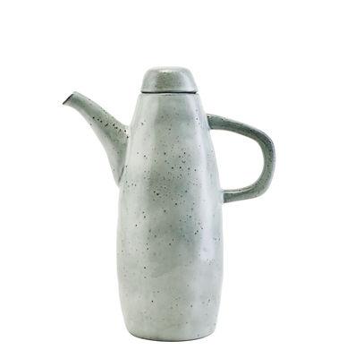 Arts de la table - Carafes et décanteurs - Carafe Rustic / Avec couvercle - H 26,5 cm - House Doctor - Bleu-gris - Faïence émaillée