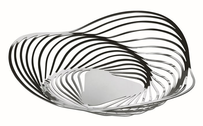 Tableware - Fruit Bowls & Centrepieces - Trinity Centrepiece by Alessi - Polished metal - Stainless steel 18/10