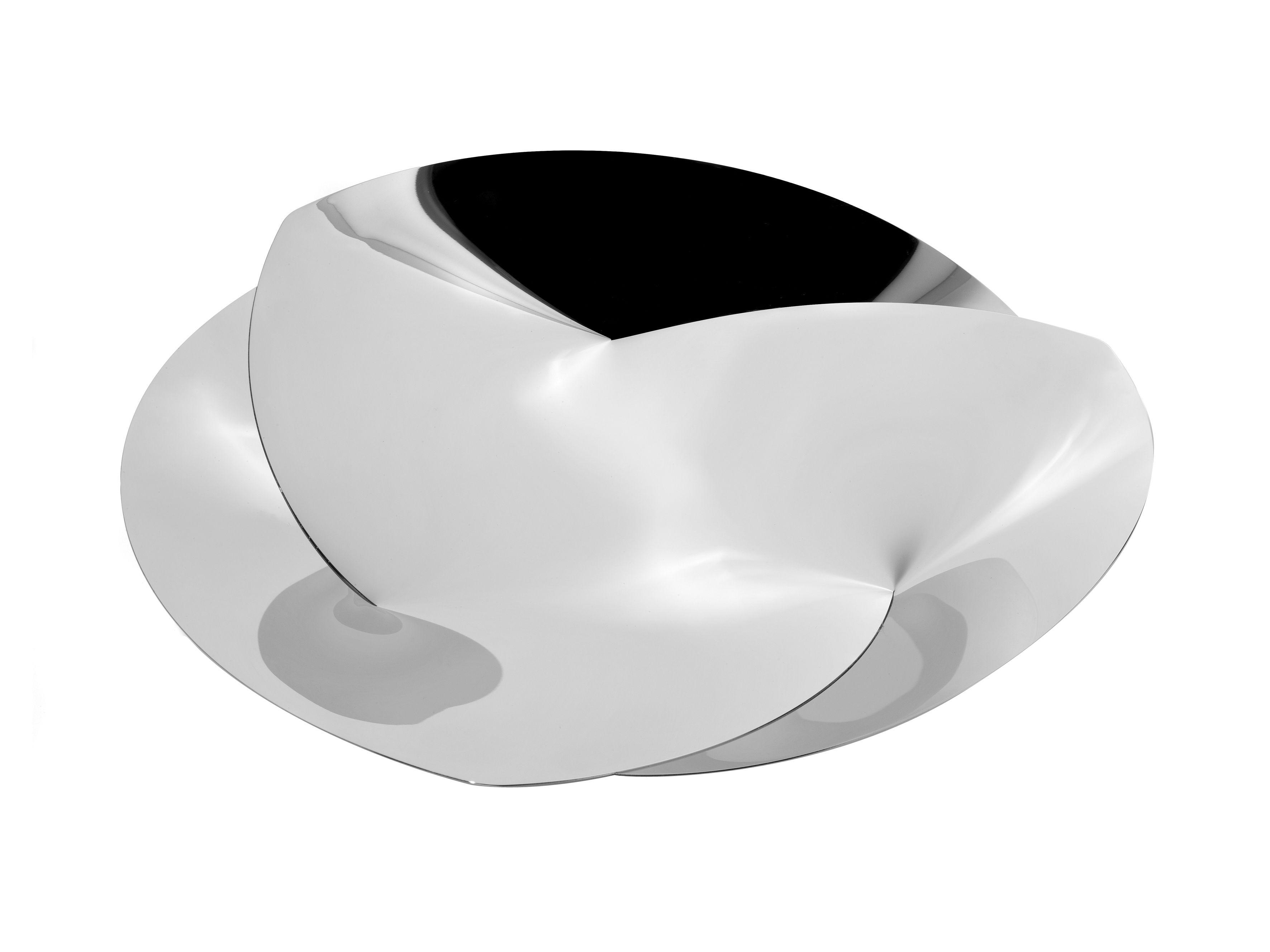 Arts de la table - Corbeilles, centres de table - Corbeille Resonance / Ø 40 cm - Alessi - Acier poli - Acier inoxydable