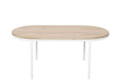 Couchtisch / Holz - 110 x 55 cm - Bloomingville - Weiß,Eiche natur