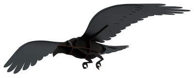 Décoration Adam / A suspendre - L 53 x H 12 cm - Ibride noir en bois