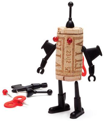 Tavola - Bar, Vino, Aperitivo - Decorazione Corker Robot - / Per tappo di sughero di Pa Design - Yuri - Materiale plastico