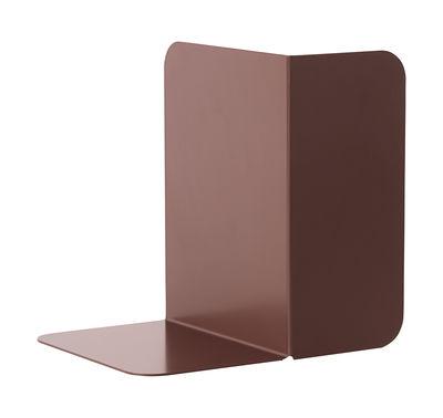 Image of Reggilibri Compile / Metallo - Modulabile - Muuto - Bordeaux - Metallo
