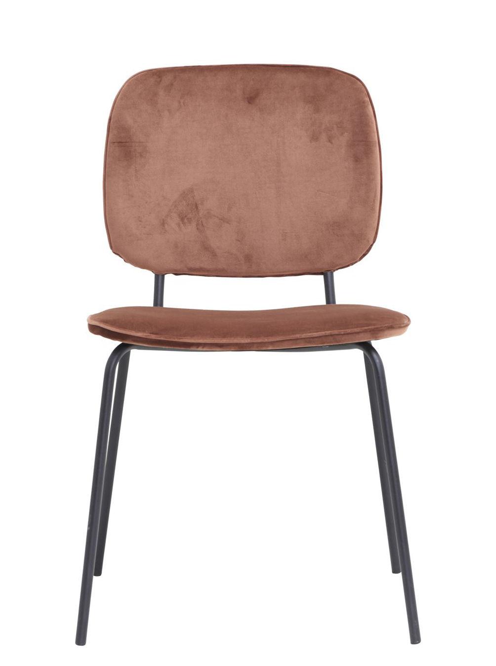 Möbel - Stühle  - Comma Gepolsterter Stuhl / Velours - House Doctor - Ziegelrot - Schaumstoff, Stahl, Velours