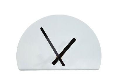 Horloge à poser Unfinished / L 20 x H 13 cm - Thelermont Hupton blanc en métal