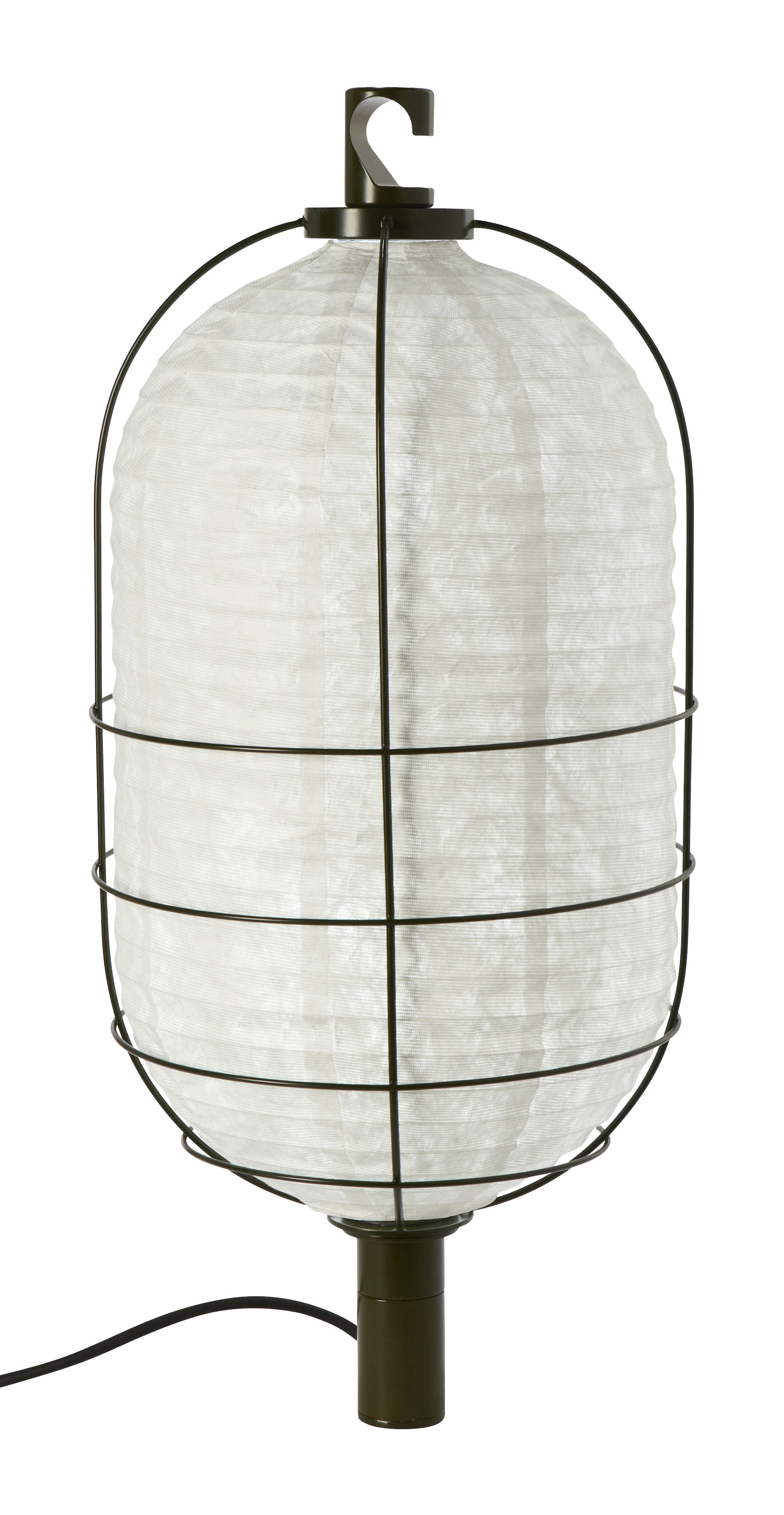 Lighting - Table Lamps - In & Out Lamp - Medium - Ø 30 cm by Forestier - H 65,5 x Ø 30 cm - Green - Lacquered metal, Tyvek