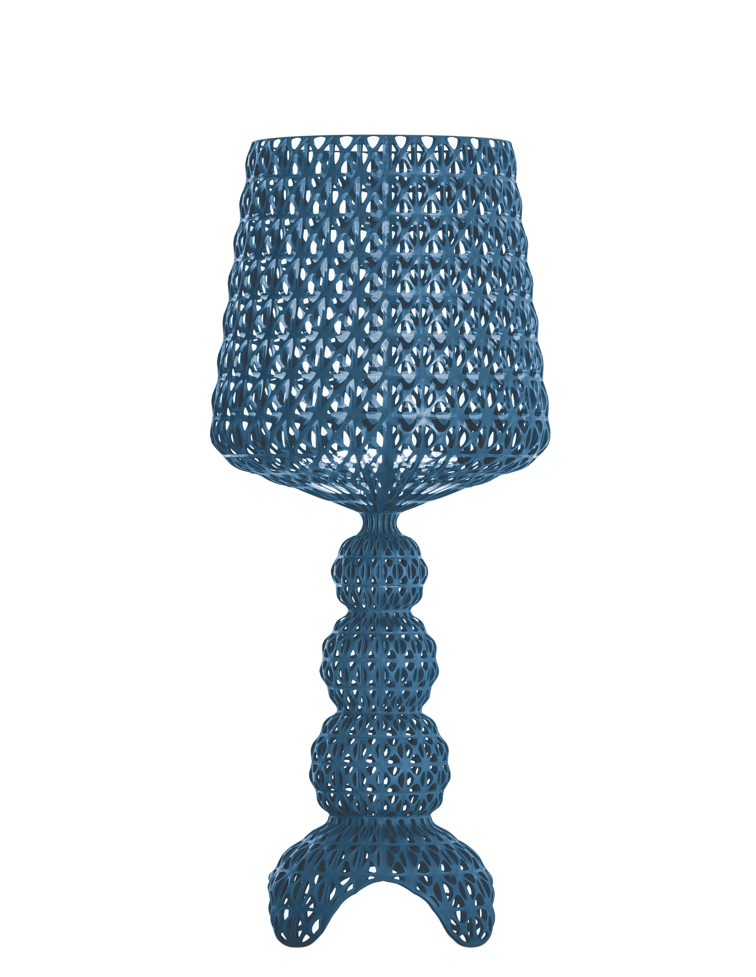 Lighting - Table Lamps - Mini Kabuki Lamp - / LED by Kartell - Blue - Thermoplastic technopolymer