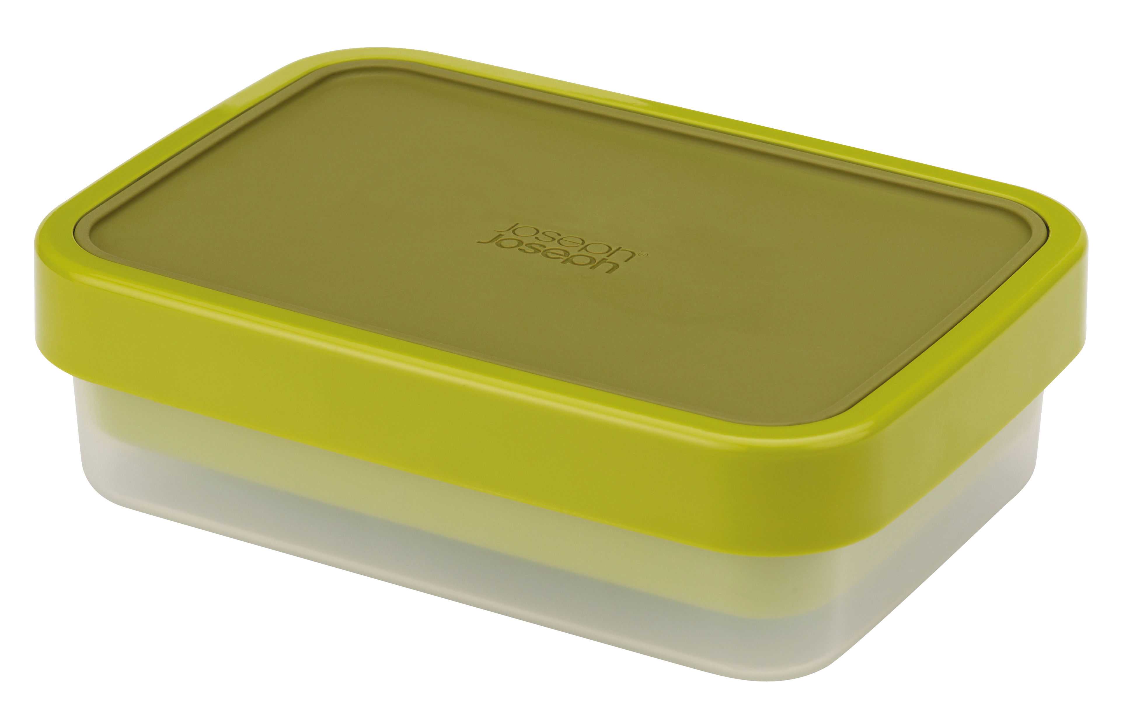 Kitchenware - Kitchen Storage Jars - GoEat Lunch box - 2 stackable boxes set by Joseph Joseph - Green - Polypropylene, Silicone