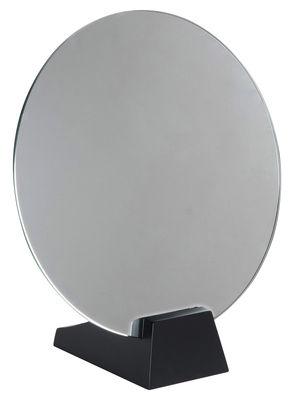 Déco - Miroirs - Miroir à poser Lalou / Ø 40 cm - Réédition 1928 de Jacques Emile Ruhlmann - La Chance - Noir - Hêtre massif laqué, Verre