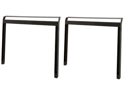 Furniture - Office Furniture - Pi Pair of trestles - indoor / outdoor - Set of 2 by Moaroom - Indoor & outdoor use / Semi glossy black - Steel
