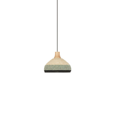 Lighting - Pendant Lighting - Grass XS Pendant - / Ø 26 x H 18 cm - Hand-braided abaca by Forestier - Blue - Abaca, Oak