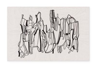 Plaid Geo / Plaid - 130 × 200 cm - Tom Dixon noir,blanc cassé en tissu