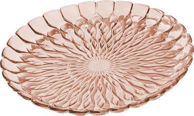 Plat Jelly /Centre de table - Ø 45 cm - Kartell rose transparent en matière plastique