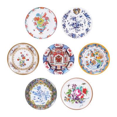 Tableware - Plates - Antique Plate - / Set of 7 - Melamine by & klevering - Multicoloured - Melamine