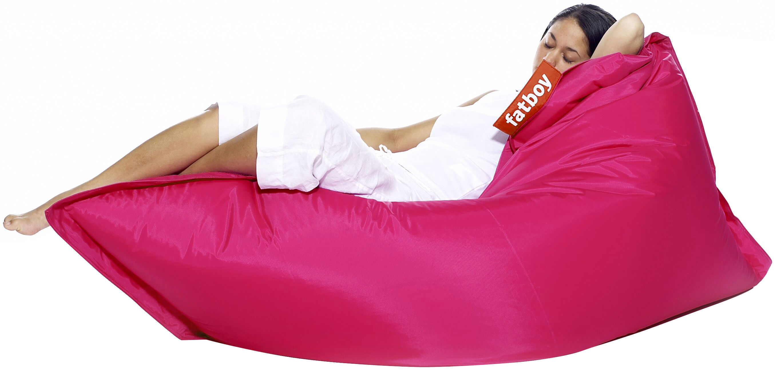 Furniture - Poufs & Floor Cushions - The Original Pouf by Fatboy - Pink - Nylon, Polystyren balls