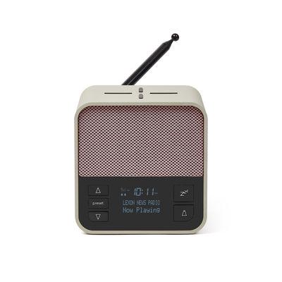 Accessoires - Objets connectés, accessoires high tech - Radio-réveil Oslo News + / Enceinte Bluetooth® & chargeur à induction - Lexon - Gris clair / Rose - ABS, Fibres