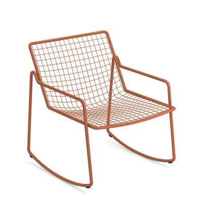 Rocking chair Rio R50 / Métal - Emu rouge en métal