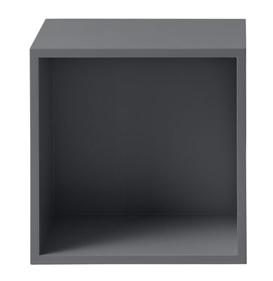 Furniture - Bookcases & Bookshelves - Stacked Shelf - Medium square unit with bottom by Muuto - Dark grey - Painted MDF