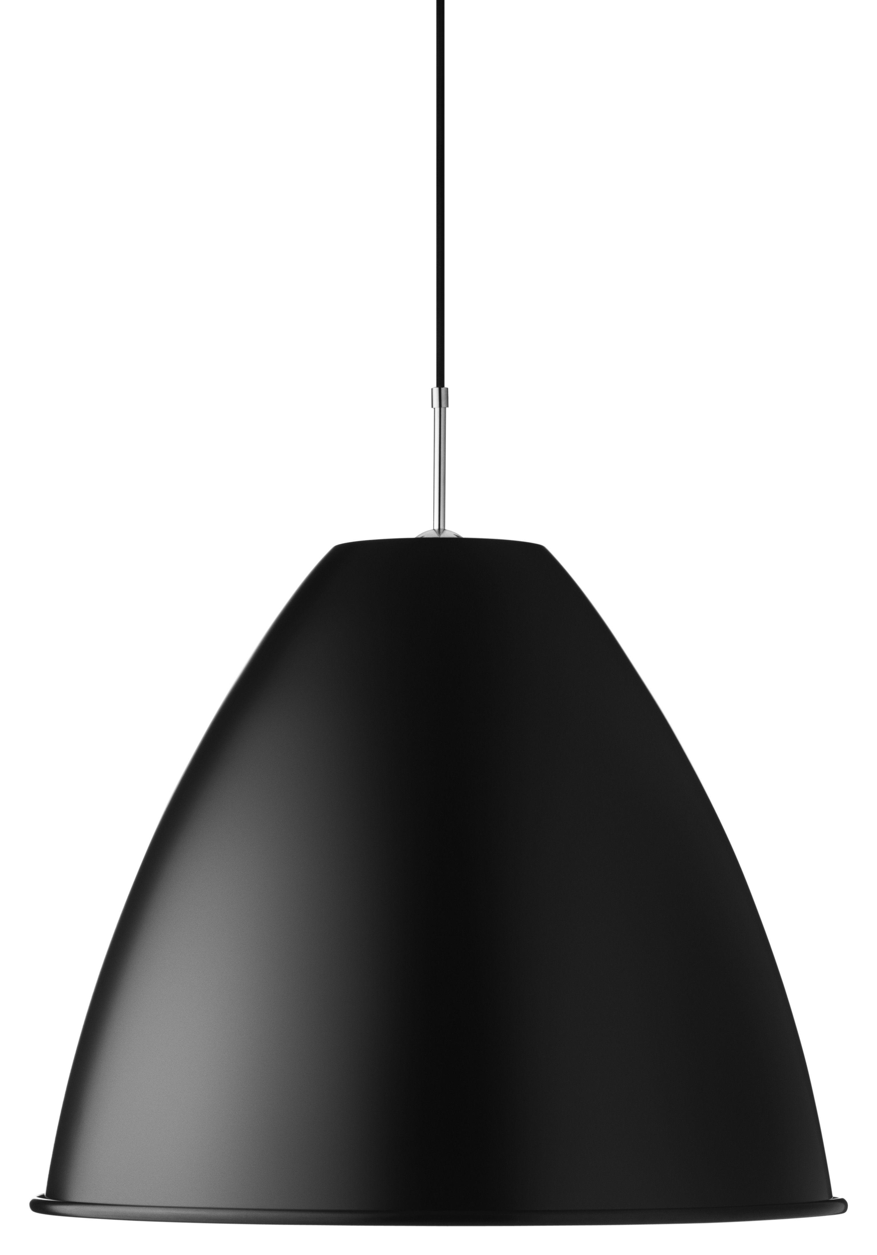 Illuminazione - Lampadari - Sospensione Bestlite BL9 L - Ø 40 cm - Riedizione del 1930 di Gubi - Nero - Metallo cromato