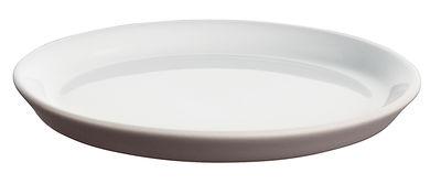 Soucoupe pour tasse expresso Tonale - Alessi blanc,taupe en céramique