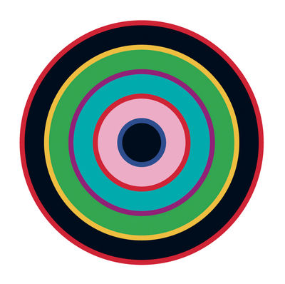 Interni - Sticker - Sticker Target 1 di Domestic - Blu-verde-nero - Vinile