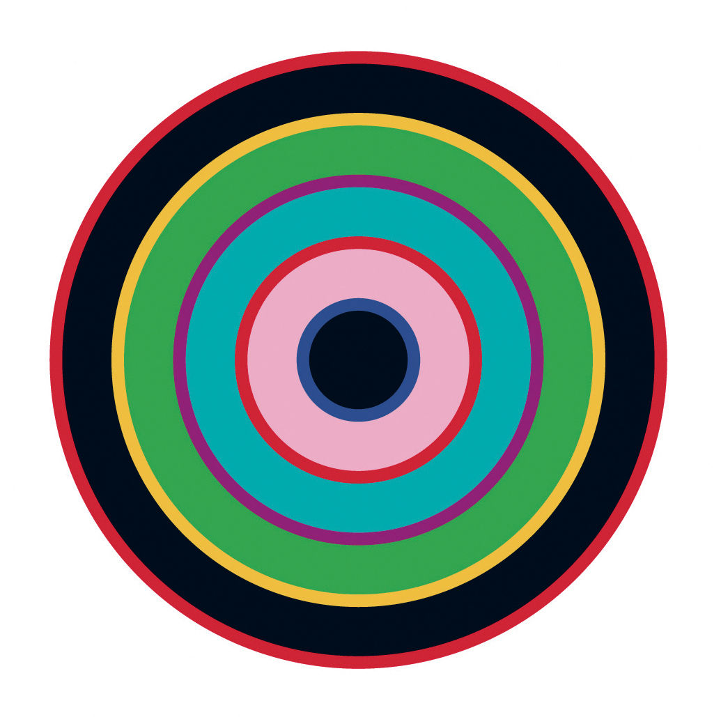 Interni - Sticker - Sticker Target 1 di Domestic - Blu-verde-nero - Vinile