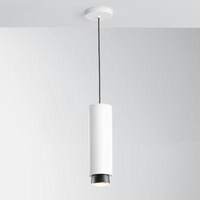 Suspension Claque LED / Ø 10 x H 33 cm - Fabbian blanc en métal