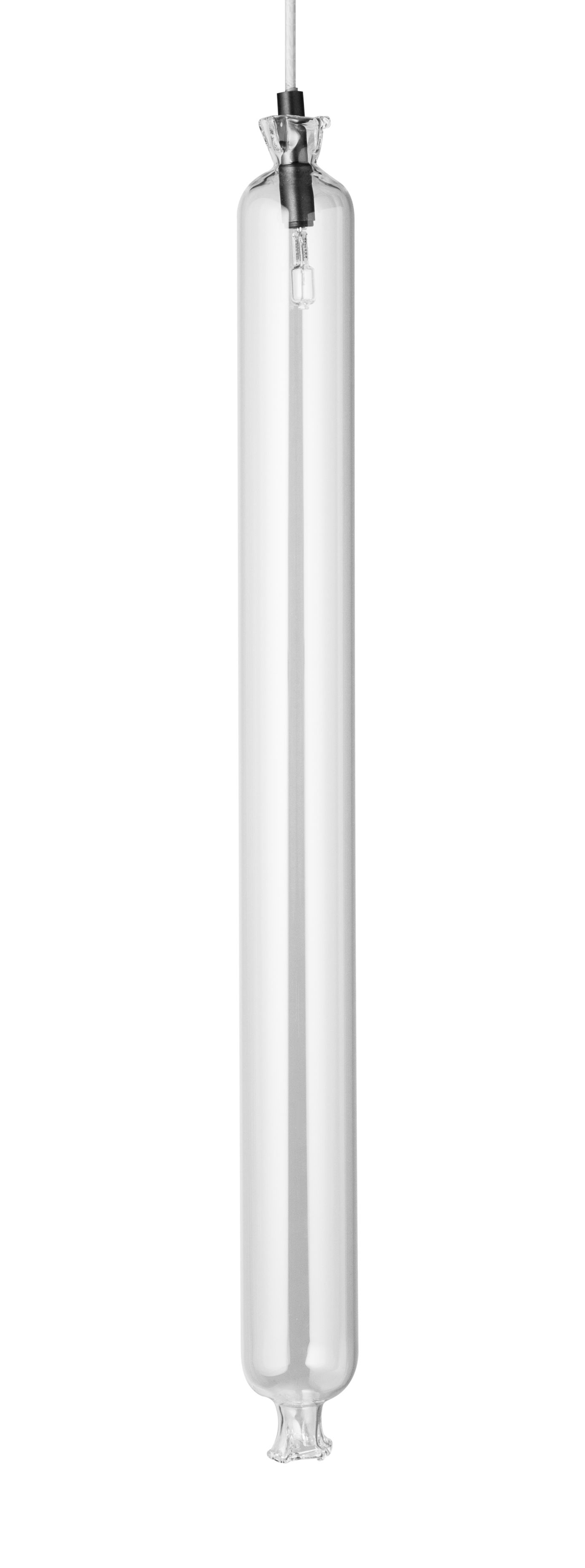 Luminaire - Suspensions - Suspension So-Sage Gendarme / H 40 cm - Petite Friture - Gendarme / Transparent - Laiton peint, Verre borosilicaté