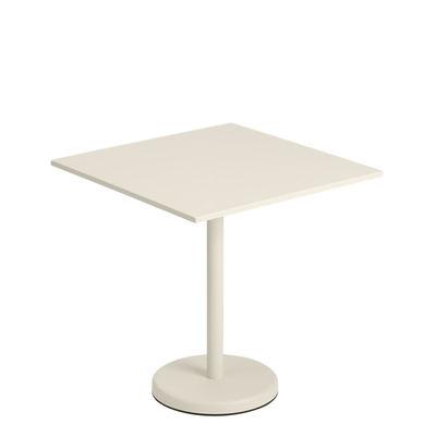 Table carrée Linear Café / 70 x 70 cm - Acier - Muuto blanc en métal