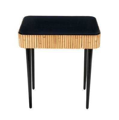 Table d'appoint Riviera / Rotin - Tiroir - Maison Sarah Lavoine noir/bois naturel en bois