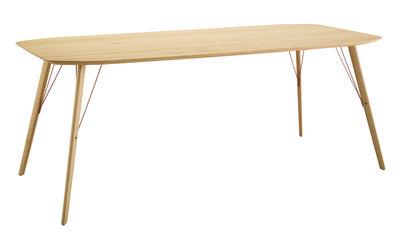 Mobilier - Tables - Table rectangulaire Santiago / 90 x 210 cm - Zanotta - Rouvre naturel - Métal, Rouvre