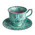 Tasse à thé Grandpa / Set de 4 - Avec soucoupes - Pols Potten