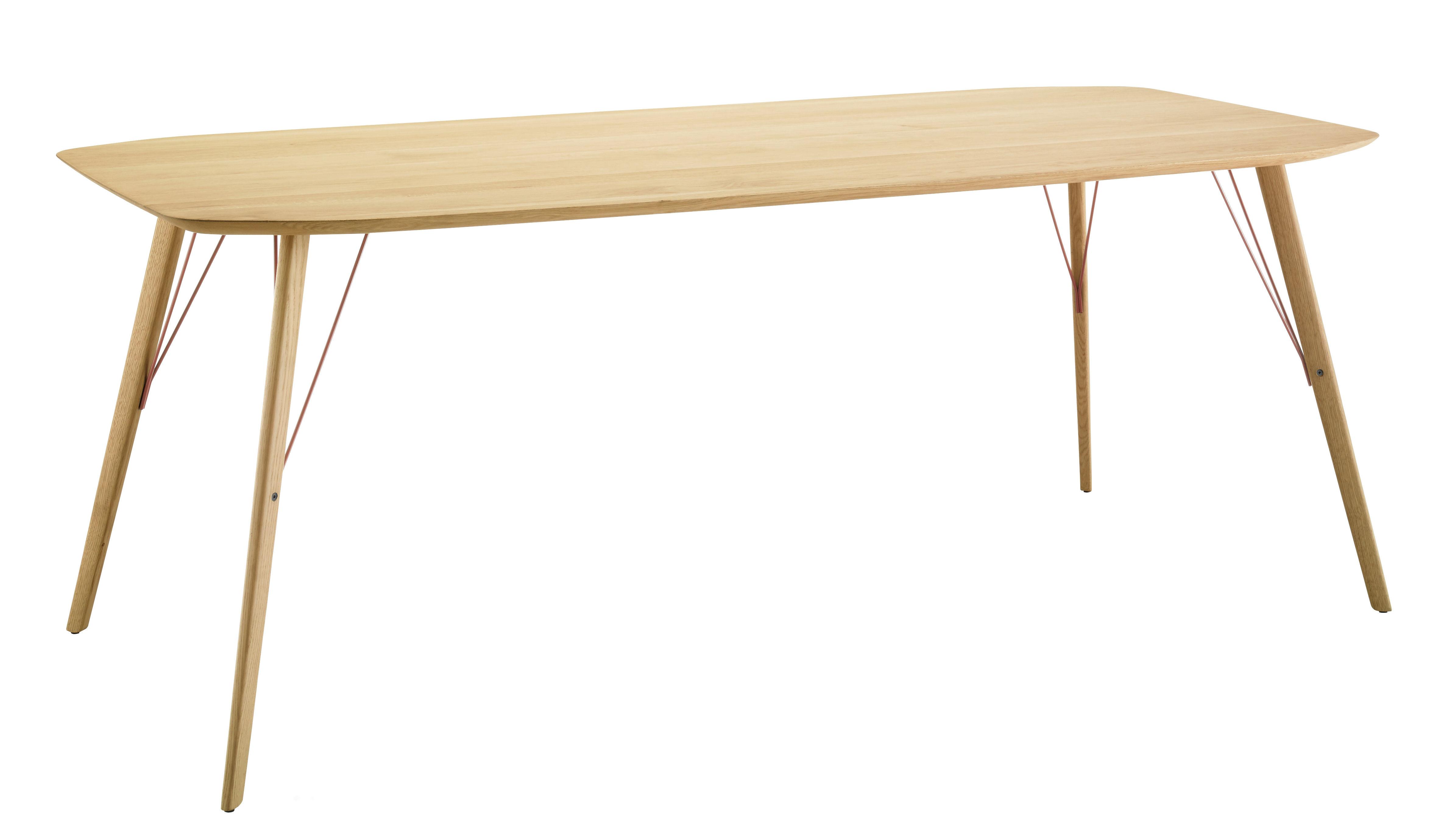 Arredamento - Tavoli - Tavolo Santiago / 90 x 210 cm - Zanotta - Rovere naturale - Metallo, Rovere