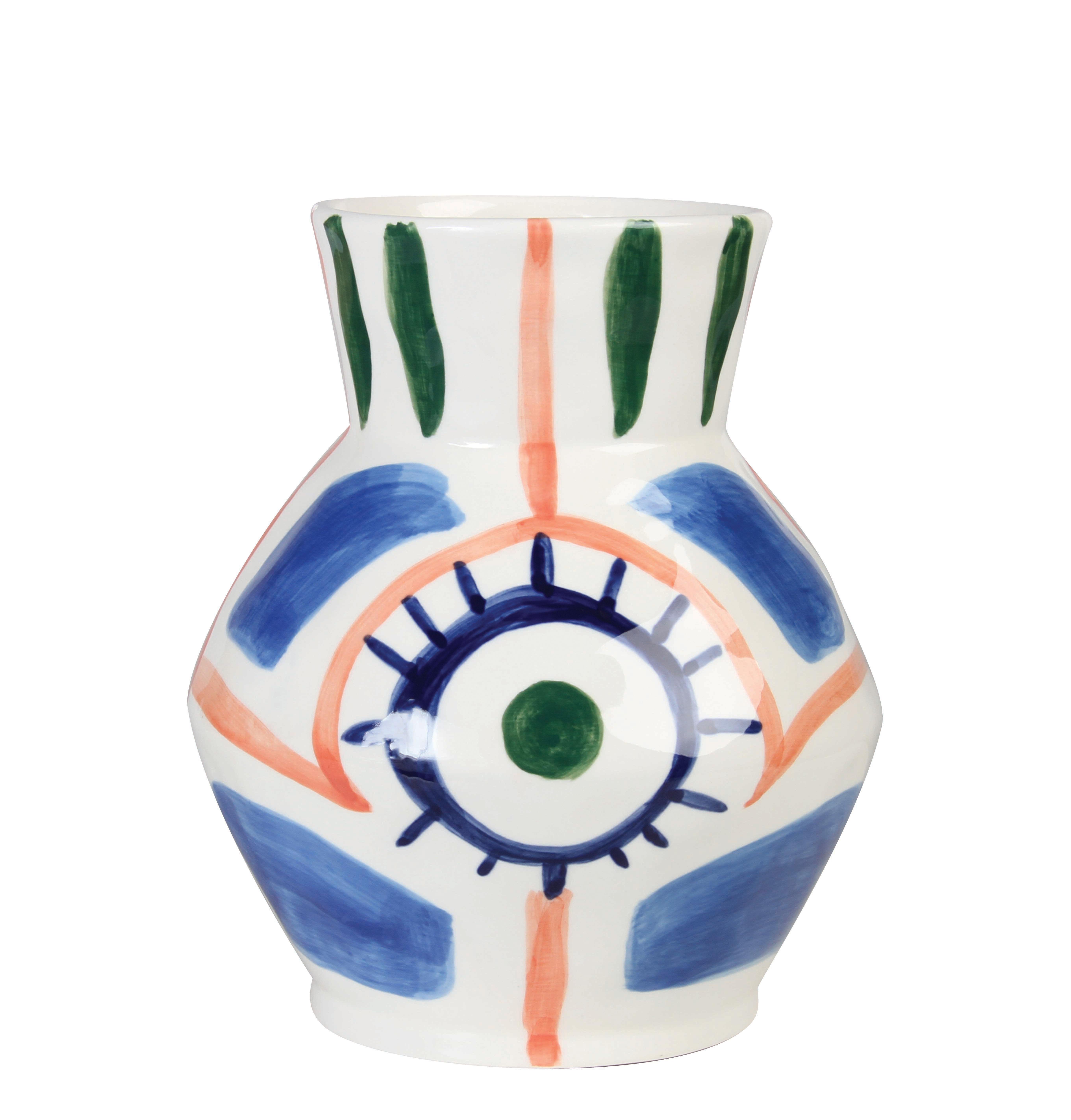 Interni - Vasi - Vaso Vase Baariq - / Dipinto a mano di & klevering - Multicolore - Ceramica