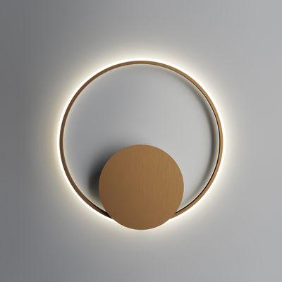 Lighting - Wall Lights - Olympic LED Wall light - / Ø 60 cm by Fabbian - Bronze - Aluminium