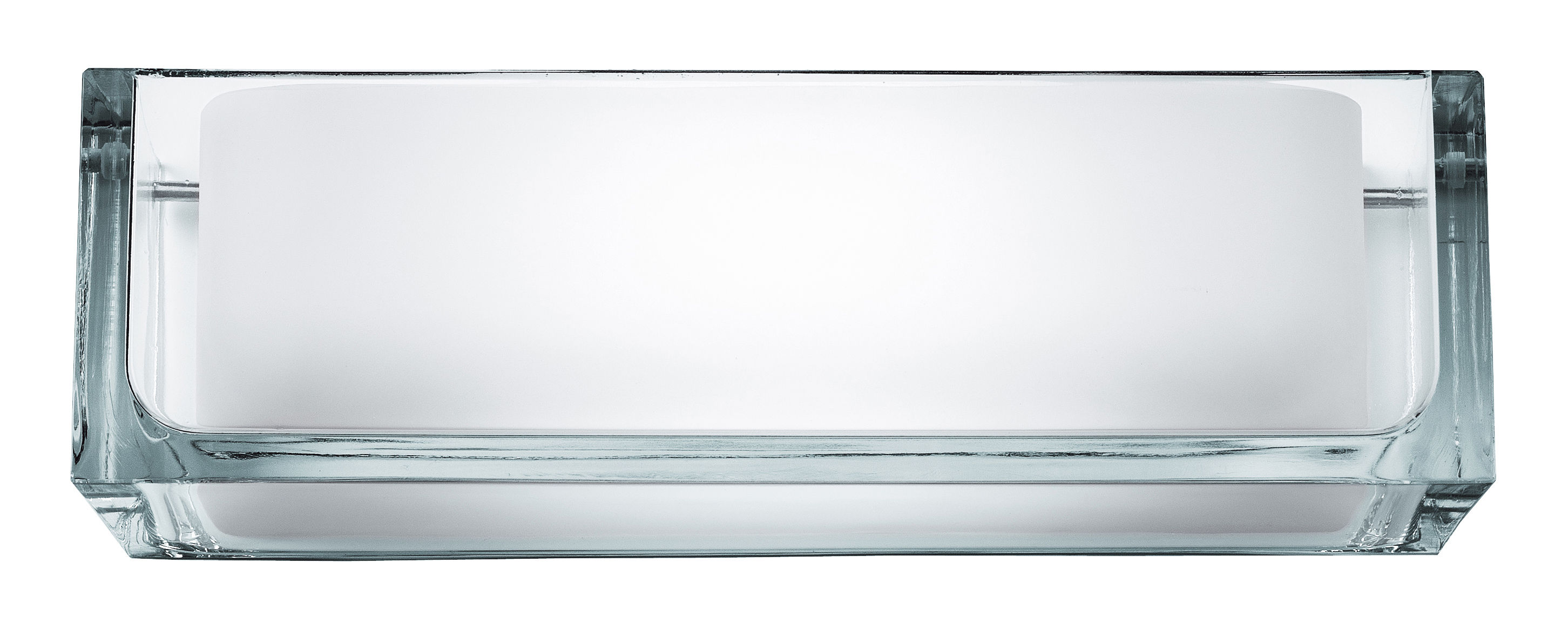 Lighting - Wall Lights - Ontherocks 1 HL Wall light by Flos - Glass - Glass