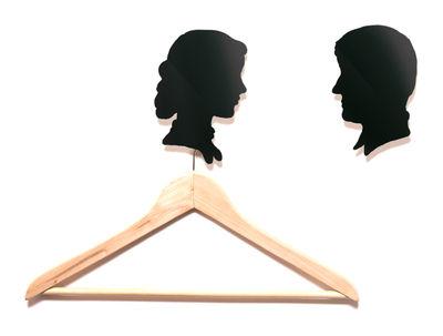 Möbel - Garderoben und Kleiderhaken - Les parents Wandhaken 2er Set - Domestic - Schwarz - Eltern - lackiertes Aluminium