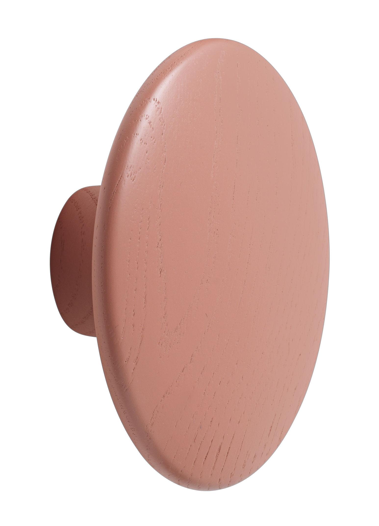 Möbel - Garderoben und Kleiderhaken - The dots Wandhaken / Medium - Ø 13 cm - Muuto - Rosa - getönte Esche