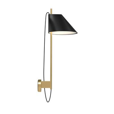 Illuminazione - Lampade da parete - Applique Yuh - LED / Orientabile di Louis Poulsen - Nero - Alluminio, Marmo, Ottone