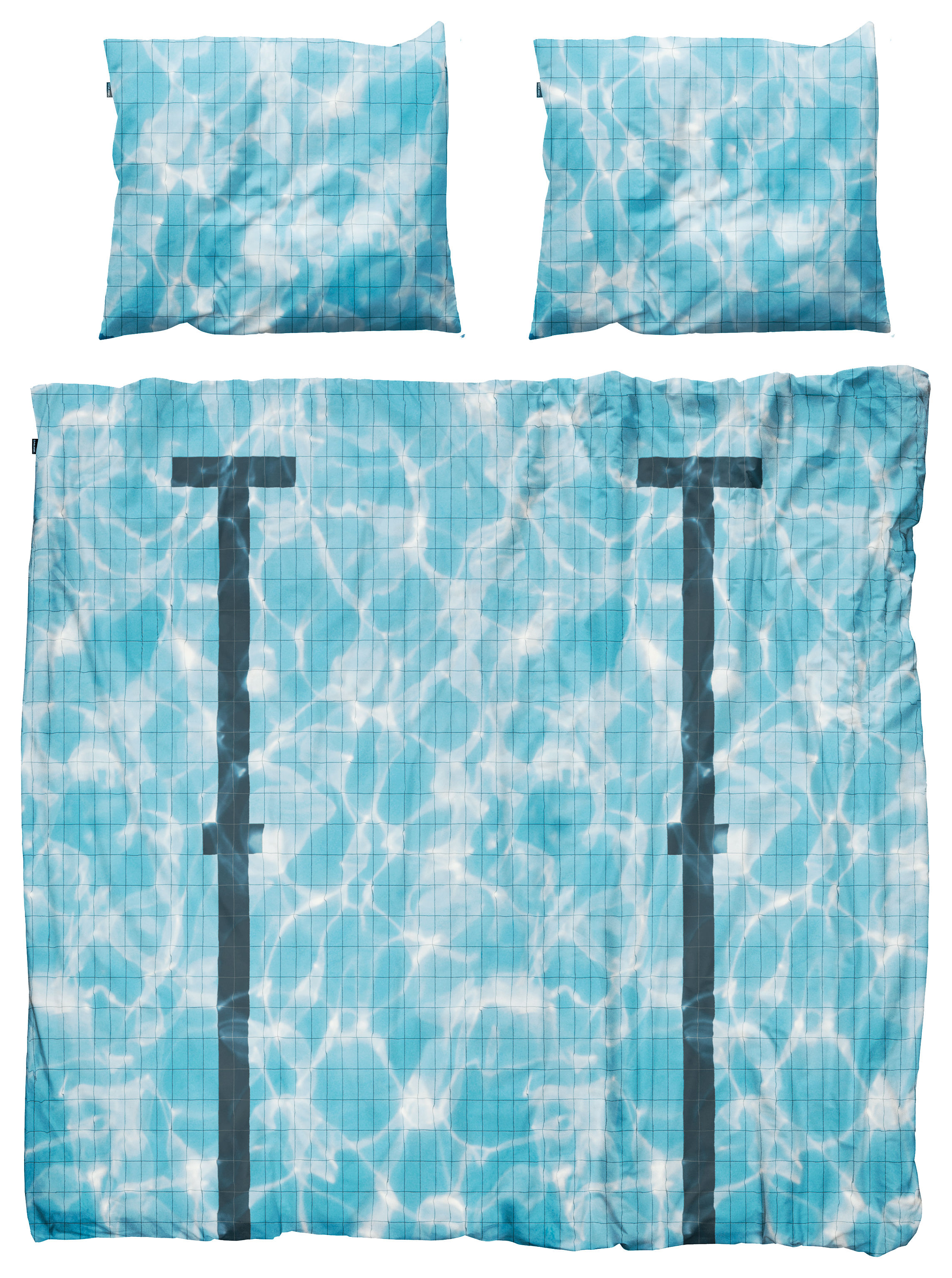 Decoration - Bedding & Bath Towels - Pool Bedlinen set for 2 people by Snurk - Pool - Cotton percale