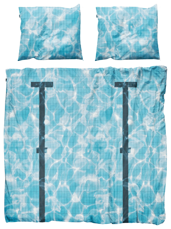 Dekoration - Wohntextilien - Pool Bettwäsche-Set für 2 Personen / 3-teilig, für 2 Personen - 240 x 220 cm - Snurk - Schwimmbad - Percale de coton