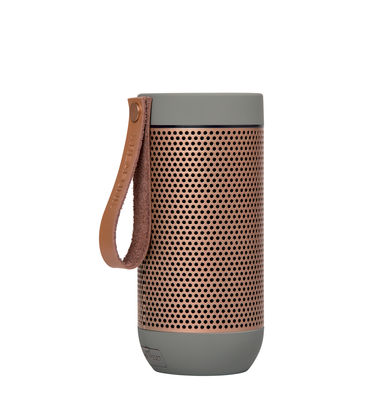 Accessories - Speakers & Audio - aFUNK Bluetooth speaker - / Portable - Wireless by Kreafunk - Light grey  / Rose gold - Aluminium, Leather, Plastic material