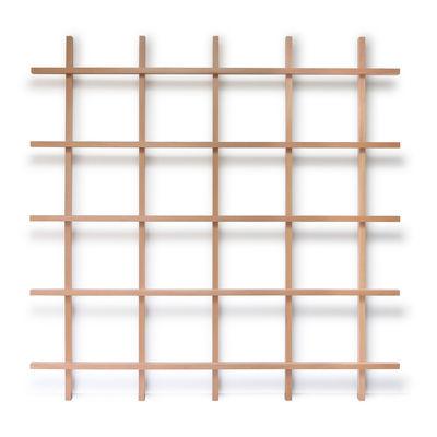 Möbel - Regale und Bücherregale - Mike Bücherregal / L 200 x H 200 cm - Compagnie - Bücherregal / Buche - Buche, massiv, lackiert