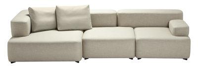 Canapé droit Alphabet / modulable - 3 places - L 300 x P 120 cm - Fritz Hansen beige clair en tissu