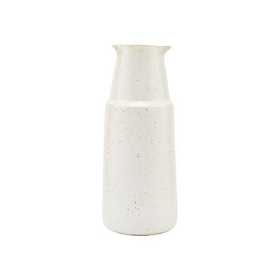 Arts de la table - Carafes et décanteurs - Carafe Pion / 430 ml - H 18 cm / Porcelaine mouchetée - House Doctor - Blanc-gris - Porcelaine émaillée