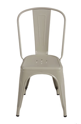Chaise empilable A / Acier - Couleur mate - Tolix gris soie mat en métal