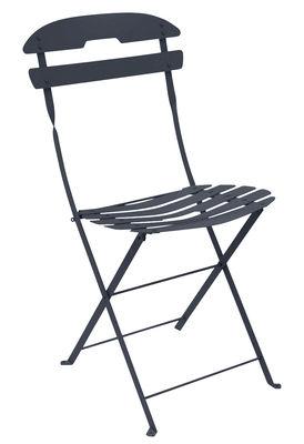 Mobilier - Chaises, fauteuils de salle à manger - Chaise pliante La Môme / Acier - Fermob - Carbone - Acier peint